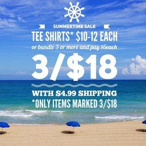 Other - 3/$18 Summer Tee Shirt Bundle Sale
